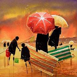 Let's Sit Here by Peter J Rodgers - Original Painting on Paper sized 12x12 inches. Available from Whitewall Galleries